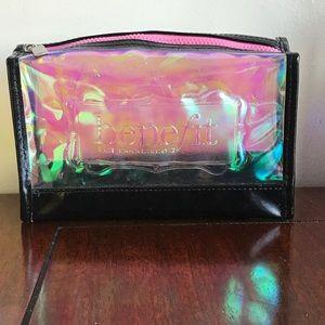 Benefit cosmetics holographic makeup bag